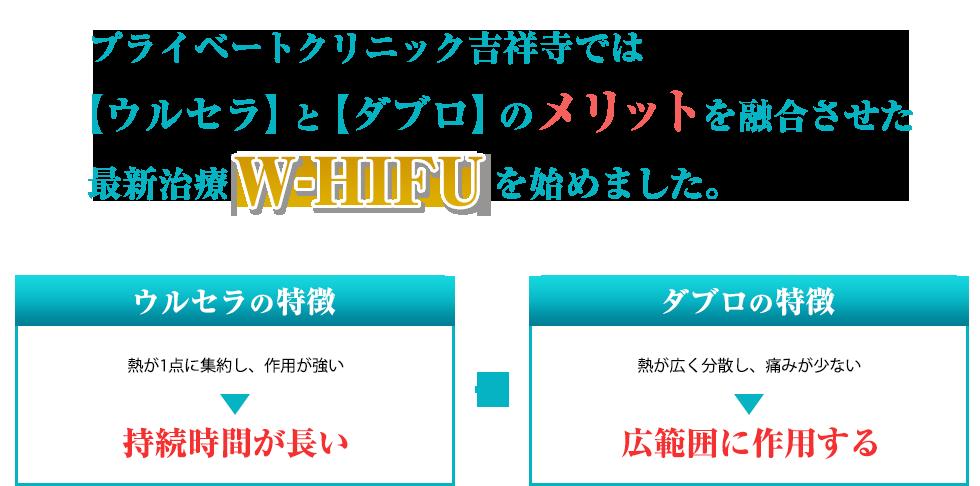 超高密度ウルセラ治療【W-HIFU】